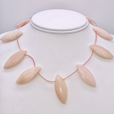 Pink Peruvian Opal Marquis Briolette 12 Bead Strand 10815H - PremiumBead
