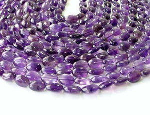 3 Yummy Natural Amethyst 14x10mm Oval Beads 009161 - PremiumBead Alternate Image 2