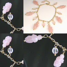 Load image into Gallery viewer, Stunning! Rose Quartz Goddess & 14Kgf Bracelet 409287RQ - PremiumBead