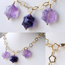 Load image into Gallery viewer, Natural Fluorite & 22K Vermeil Star 18 inch Necklace 209245Fl - PremiumBead Alternate Image 9