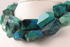 Premium! 1 Natural Chrysocolla Faceted Bead 9653 - PremiumBead