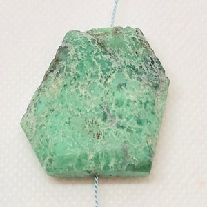 75cts Faceted Chrysoprase Nugget Bead Huge 10134A - PremiumBead
