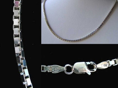 Italian! Silver 2mm Box Chain 22