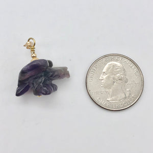 "American Eagle Amethyst 14K Gold Filled 1.38"" Long Pendant 509263AMG - PremiumBead Alternate Image 5"