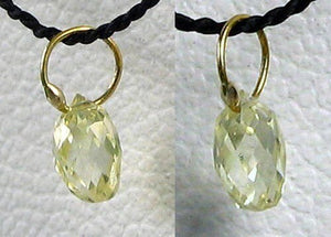 0.26cts Natural Canary Diamond & 18K Gold Pendant 6568N - PremiumBead
