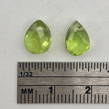 Load image into Gallery viewer, Peridot Faceted Briolette Beads Matched Pair | 2.4 cts each | Green | 9x6x5mm | - PremiumBead