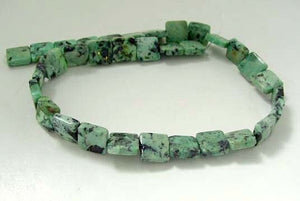 Minty Mojito Green Turquoise Square Coin Bead Strand 107412D - PremiumBead