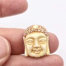 Load image into Gallery viewer, Carved Buddha Centerpiece Waterbuffalo Bone Bead | 23.5x19x9mm | 10842 - PremiumBead