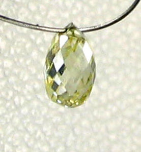 Natural Canary Diamond 4.25x2.75mm Briolette Bead .26cts 6110 - PremiumBead Alternate Image 2