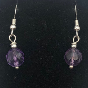 Royal Natural Untreated 8mm Faceted Amethyst Solid Sterling Silver Earrings - PremiumBead Alternate Image 4