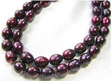 Stunning Black Cherry Freshwater 11x10 to 13x10mm Pearl 8