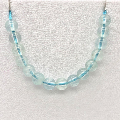 15 Natural Aquamarine Round Beads | 4.5mm | 15 Beads | Blue | 6655B - PremiumBead