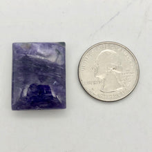 Load image into Gallery viewer, 42cts of Rare Rectangular Pillow Charoite Bead | 1 Beads | 26x20x8mm | - PremiumBead