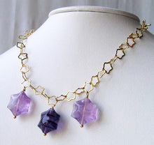 Load image into Gallery viewer, Natural Fluorite & 22K Vermeil Star 18 inch Necklace 209245Fl - PremiumBead Alternate Image 5