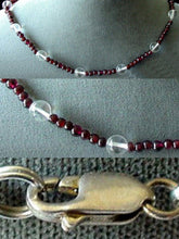 Load image into Gallery viewer, Garnet and Quartz Necklace Solid Sterling Silver Clasp 200022 - PremiumBead
