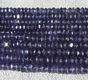 16 incredible Indigo Iolite Faceted Roundel Beads 005038 - PremiumBead