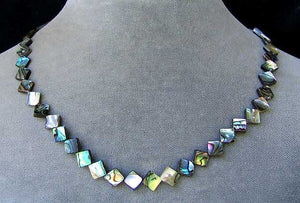 Exciting! Abalone Diagonal Square Bead Strand 105762 - PremiumBead Primary Image 1
