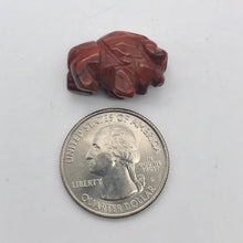 Load image into Gallery viewer, Abundance 2 Brecciated Jasper Hand Carved Bison / Buffalo Beads | 21x14x8mm | Red - PremiumBead