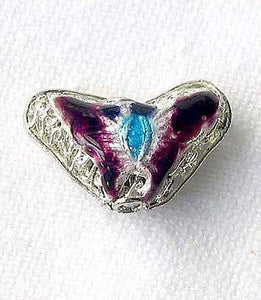 Plums Cloisonne 16x10mm Butterfly Pendant Beads 8635F - PremiumBead Alternate Image 2
