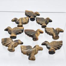 Load image into Gallery viewer, Lovely 2 Hand Carved Tiger's Eye Dove Bird Beads | 25.5x18x7 | Golden - PremiumBead