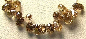 0.18cts Natural Champagne Diamond Briolette Bead 6569XE - PremiumBead Alternate Image 2