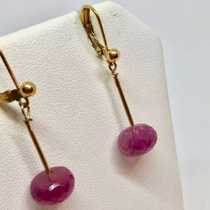 Rare Rubilite - Pink tourmaline & 14K Earrings 306985 - PremiumBead