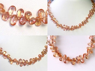 47cts Natural Imperial Topaz Faceted Bead Strand 110222 - PremiumBead
