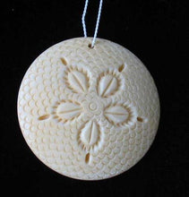Load image into Gallery viewer, Sand Dollar Hand Carved Waterbuffalo Bone Bead 10405A | 34.5x5mm | Cream - PremiumBead