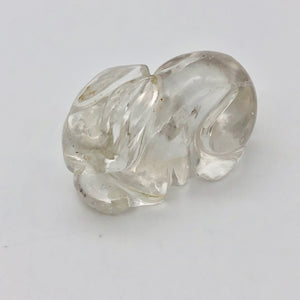 Carved Clear Quartz Bunny Rabbit Figurine | 1 5/8x1x1"
