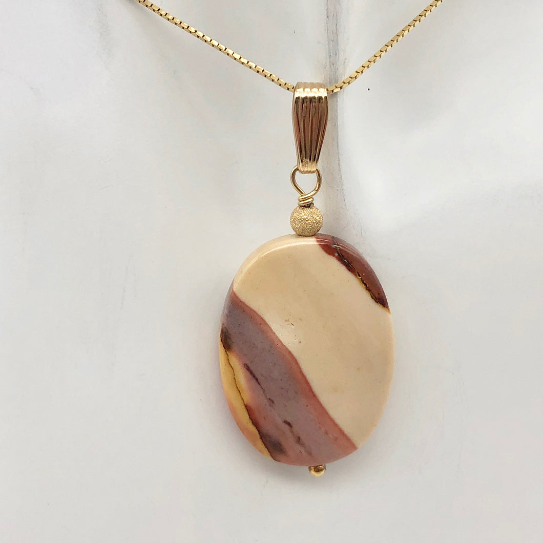 Sherbet Mookaite 30x20mm Oval 14k Gold Filled Pendant, 2 inches 506765A - PremiumBead Primary Image 1
