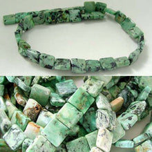 Load image into Gallery viewer, Minty Mojito Green Turquoise Square Coin Bead Strand 107412D - PremiumBead