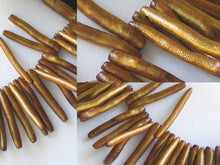 "Load image into Gallery viewer, Hot Golden Bronze Coral Briolette Bead 9 3/4"" Strand 109680 - PremiumBead"