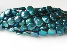 Load image into Gallery viewer, Shimmering Teal Waves 5 (5) Freshwater Coin Pearls 7252 - PremiumBead
