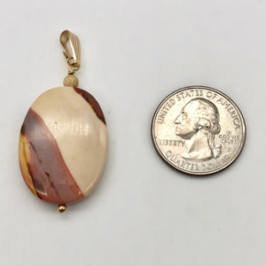 Sherbet Mookaite 30x20mm Oval 14k Gold Filled Pendant, 2 inches 506765A - PremiumBead Alternate Image 4