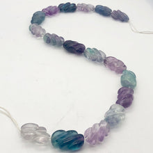 Load image into Gallery viewer, Magical! Carved Fluorite Oval Bead Strand - PremiumBead