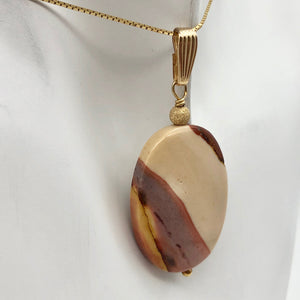 Sherbet Mookaite 30x20mm Oval 14k Gold Filled Pendant, 2 inches 506765A - PremiumBead Alternate Image 3