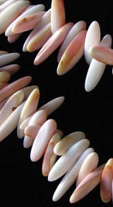 16 Pink Conch Shell 9x3x3mm to 15x4x3mmSpike Briolette Beads 9461A - PremiumBead