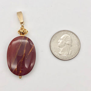 Fabulous Mookaite 30x20mm Oval 14k Gold Filled Pendant, 2 1/8 inches 506765D - PremiumBead Alternate Image 8