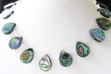 Load image into Gallery viewer, Three (3) Beads of Scenic Abalone 20x15mm Pear Pendants 4620 - PremiumBead
