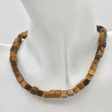 Wildly Exotic Tigereye Cube Bead 16 inch Strand | 6mm | Gold/Bronze | 109473 - PremiumBead