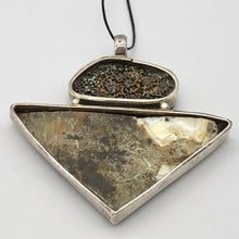 Load image into Gallery viewer, Mother of Pearl & Abalone Shell sterling silver Pendant - Glamorous! 504754 - PremiumBead