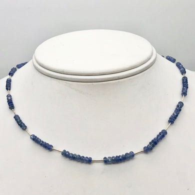 41cts Genuine Untreated Blue Sapphire & Sterling Silver Necklace 203285 - PremiumBead