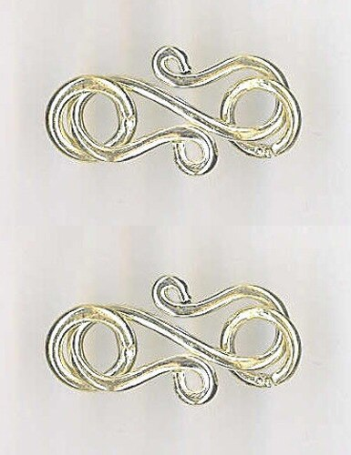2 Clasps of Beautiful Sterling Silver 'S' Clasps (2.7G Each) 003909 - PremiumBead