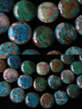 Load image into Gallery viewer, Natural Chrysocolla 12mm Coin Bead Strand 110421 - PremiumBead Alternate Image 3