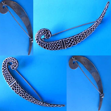 Intricate! Celtic Sterling Silver Knot Brooch Pin 10108 - PremiumBead