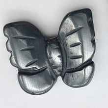 Load image into Gallery viewer, Iron Butterfly Carved Hematite Worry-Stone Figurine | 21x18x5mm | Silver Black - PremiumBead Primary Image 1