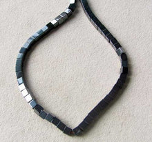 Load image into Gallery viewer, metallic-49-hematite-4x4x4mm-cube-beads-8-inch-strand-007570hs-10848