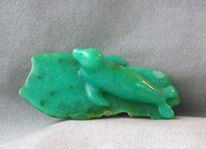 Handmade Carved Chrysoprase Gemstone Seal Figurine, 83x36x20mm, 34.2g 6429 - PremiumBead