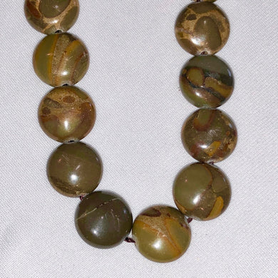 Decadent 9 Smooth Chocolate Jasper 10mm Coin Beads 9160 - PremiumBead