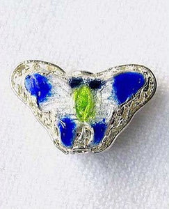 5 Cobalt Cloisonne Butterfly Pendant Beads 8635C - PremiumBead